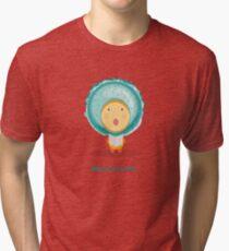 Macaroomelia (Blueberry) from Dessertelia Choir Tri-blend T-Shirt