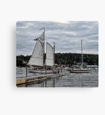 Boothbay Harbors a Storm Canvas Print