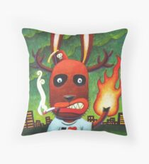 Bad Day at Pooh corner: Color Throw Pillow