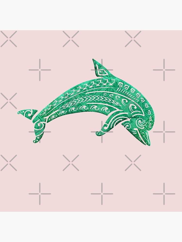 Vintage Polynesian Dolphin Print