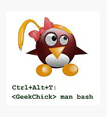 Geek Chick Photographic Print