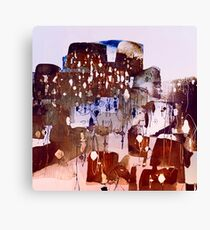town with lights Canvas Print
