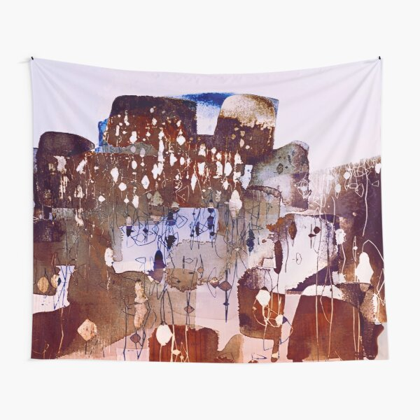 town with lights Tapestry