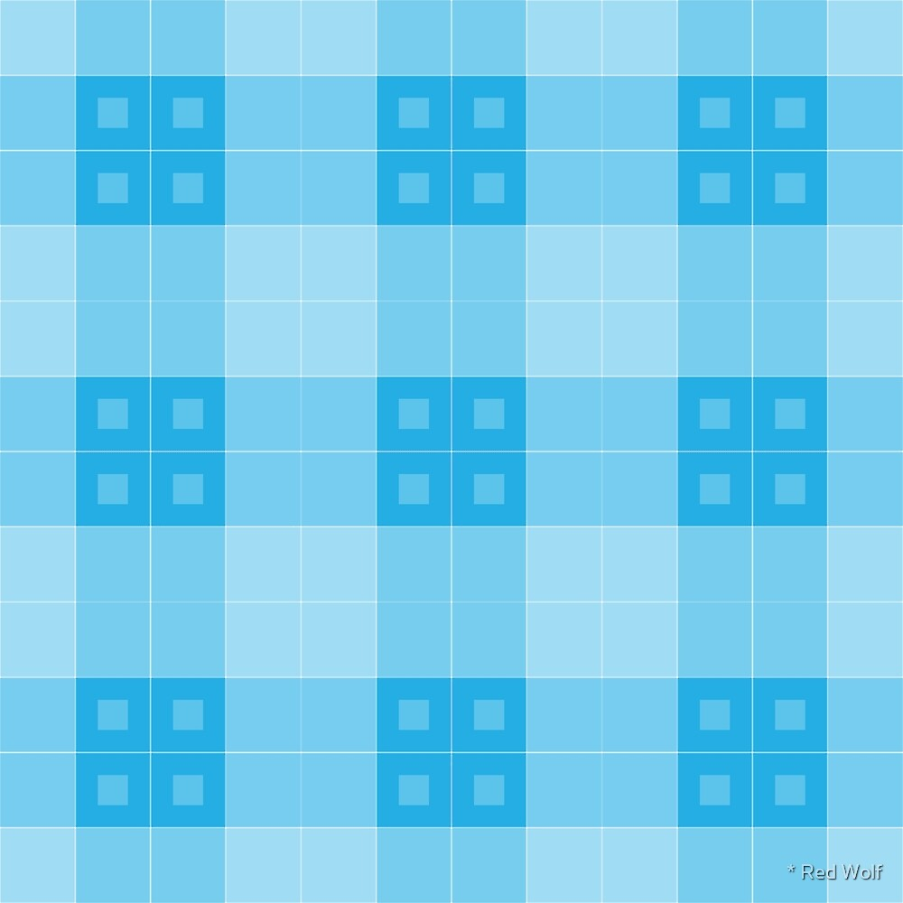Geometric Pattern: Button Weave: Light/Blue by * Red Wolf