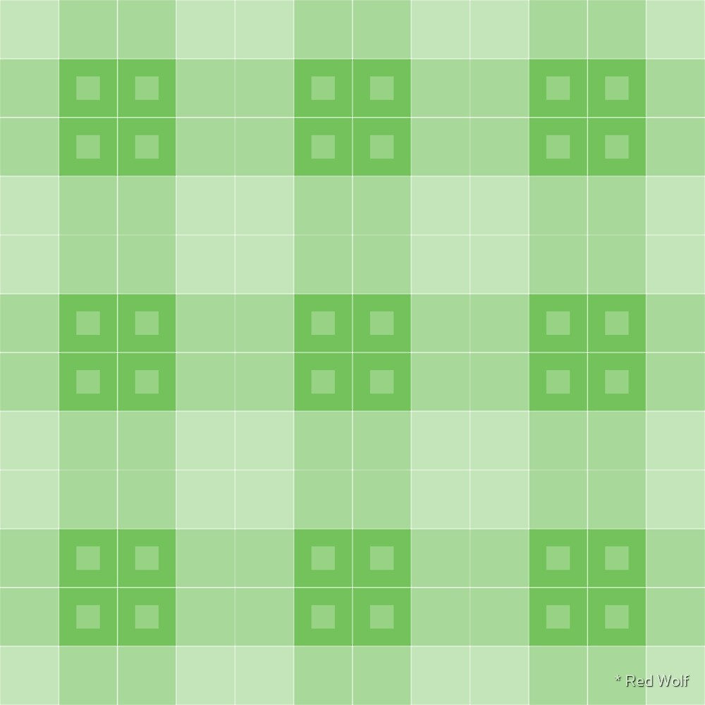 Geometric Pattern: Button Weave: Light/Green by * Red Wolf
