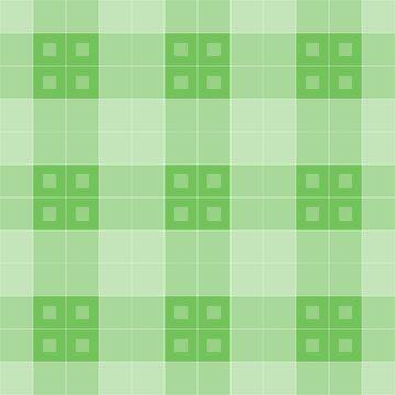 Geometric Pattern: Button Weave: Light/Green by redwolfoz