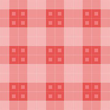 Geometric Pattern: Button Weave: Light/Red by redwolfoz