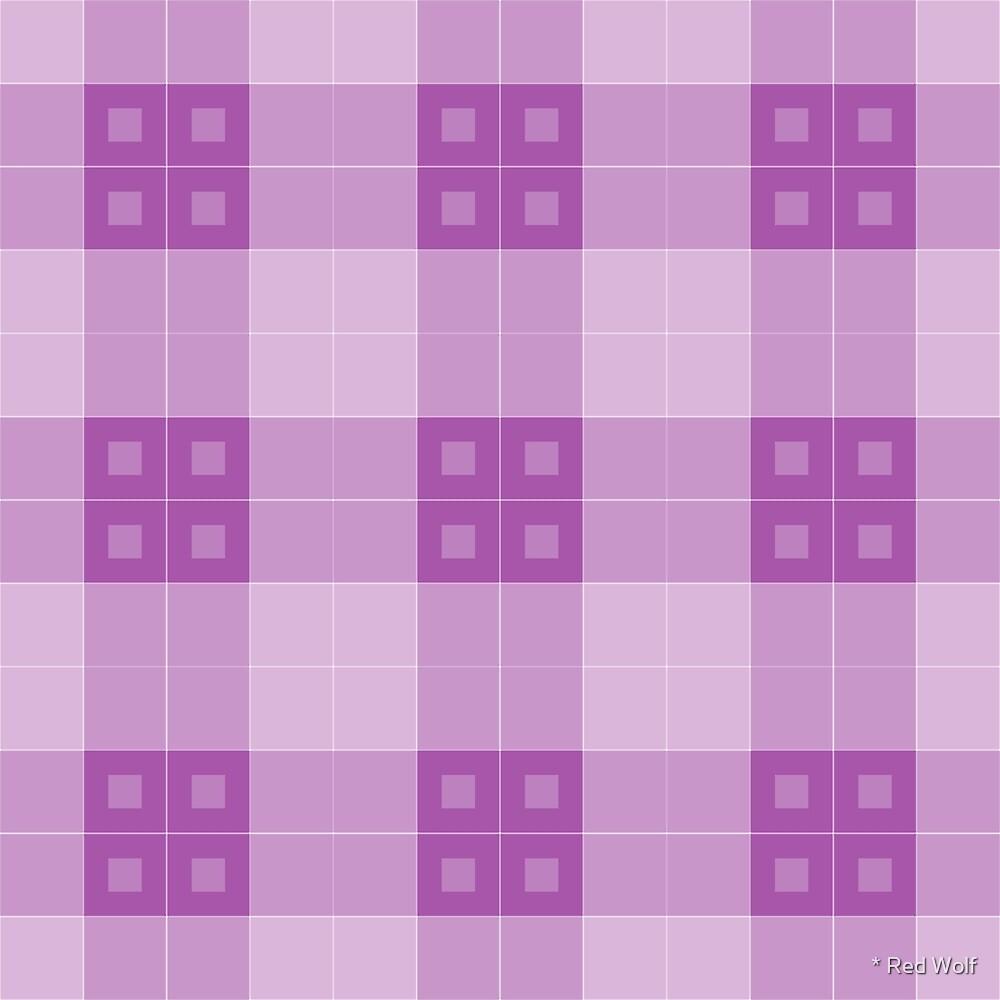 Geometric Pattern: Button Weave: Light/Purple by * Red Wolf