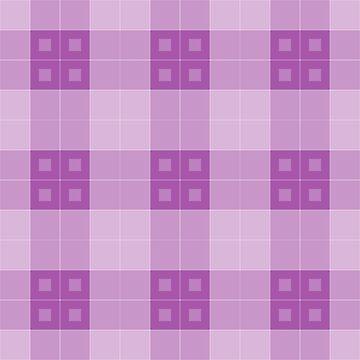 Geometric Pattern: Button Weave: Light/Purple by redwolfoz