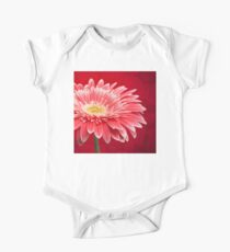 RED FLOWER Short Sleeve Baby One-Piece