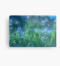 Blue Spring Flowers Metal Print
