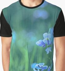Blue Spring Flowers Graphic T-Shirt