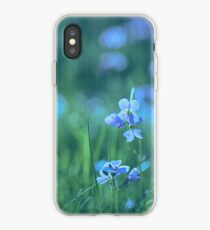 Blue Spring Flowers iPhone Case