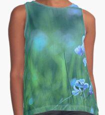 Blue Spring Flowers Contrast Tank