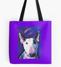 Bull Terrier Dog Bright colorful pop dog art Tote Bag