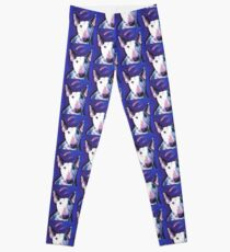 Bull Terrier Dog Bright colorful pop dog art Leggings