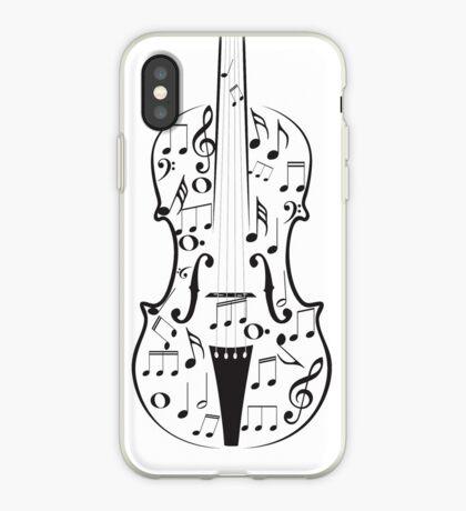 Violine mit Noten iPhone-Hülle & Cover