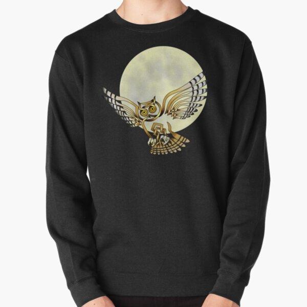 Celtic Knot Owl Moon Pullover Sweatshirt