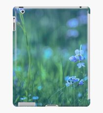 Blue Spring Flowers iPad Case/Skin