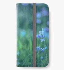 Blue Spring Flowers iPhone Wallet/Case/Skin