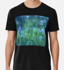 Blue Spring Flowers Men's Premium T-Shirt