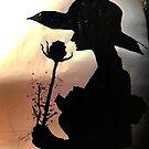 Eine Dame und Rose Silhouette Painting von Love Art Wonders by GOD