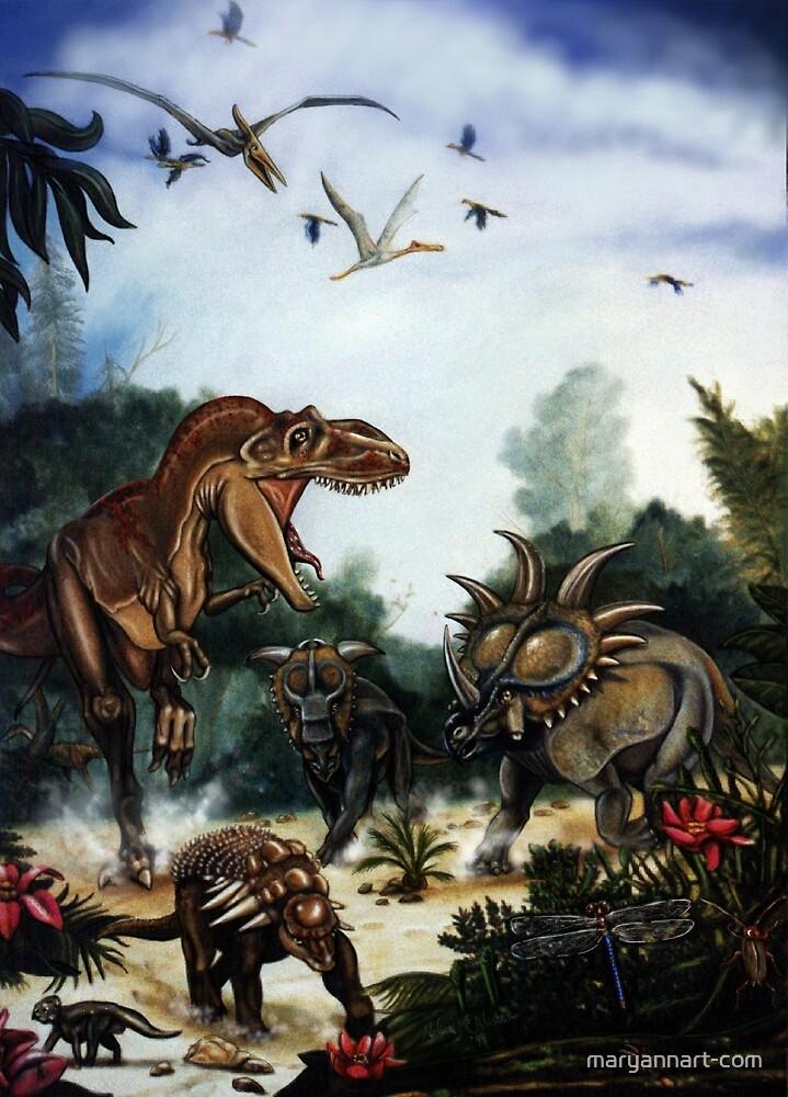 Dinosaur Chase by maryannart-com