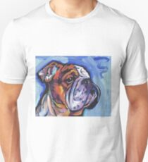 English BullDog Bright colorful pop dog art Unisex T-Shirt