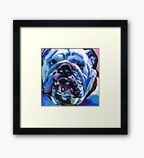 English BullDog Bright colorful pop dog art Framed Print