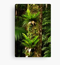 Green Totem Pole Canvas Print