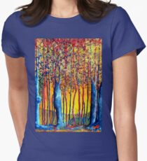 Poplars at daybreak Women's Fitted T-Shirt