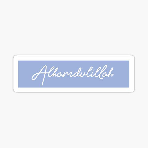 Alhamdulillah Lettering Sticker