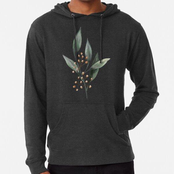 Watercolor floral leaf and seeds Lightweight Hoodie