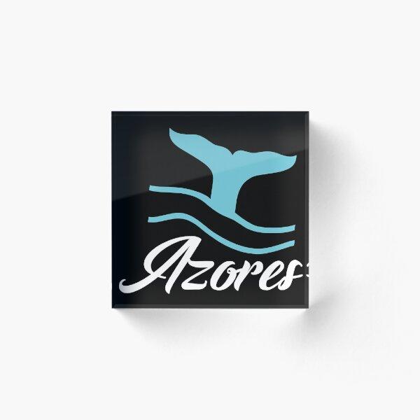 Azores Whale Acrylic Block