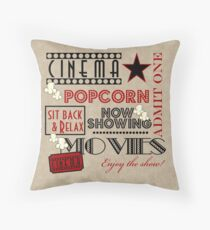 Kino Kino Geben Sie ein Ticket Pillow-Red Kissen
