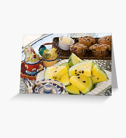 Summer Breakfast Greeting Card