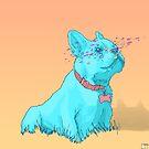 Psychedelic French Bulldog by psychastro
