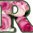 Letter R Rose Monogram by gretzky