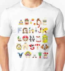 Super Mario Alphabet T-Shirt