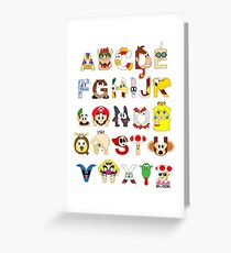 Super Mario Alphabet Greeting Card