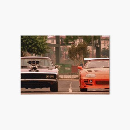 The fast and the furious last race Art Board Print