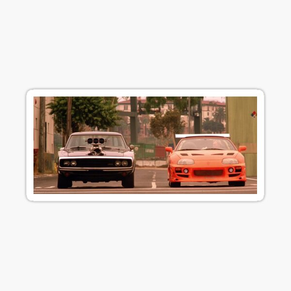 The fast and the furious last race Sticker