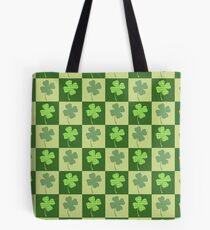 Shamrock Checkerboard Pattern Tote Bag