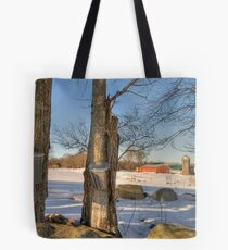 Time to collect the sap Tote Bag