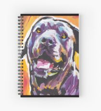 Cane Corso Dog Bright colorful pop dog art Spiral Notebook