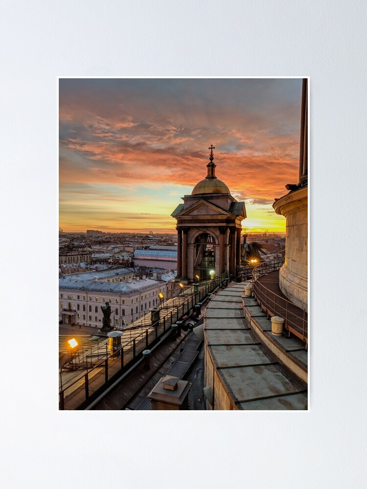 Alternate view of Magical sunset on Saint Petersburg Poster