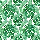 Tropical Leaf Pattern by julieerindesign