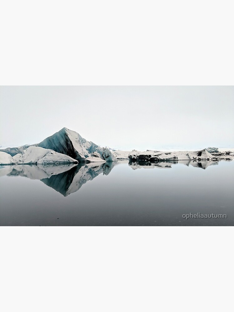 Frozen Symmetry, Glacier Lagoon by opheliaautumn