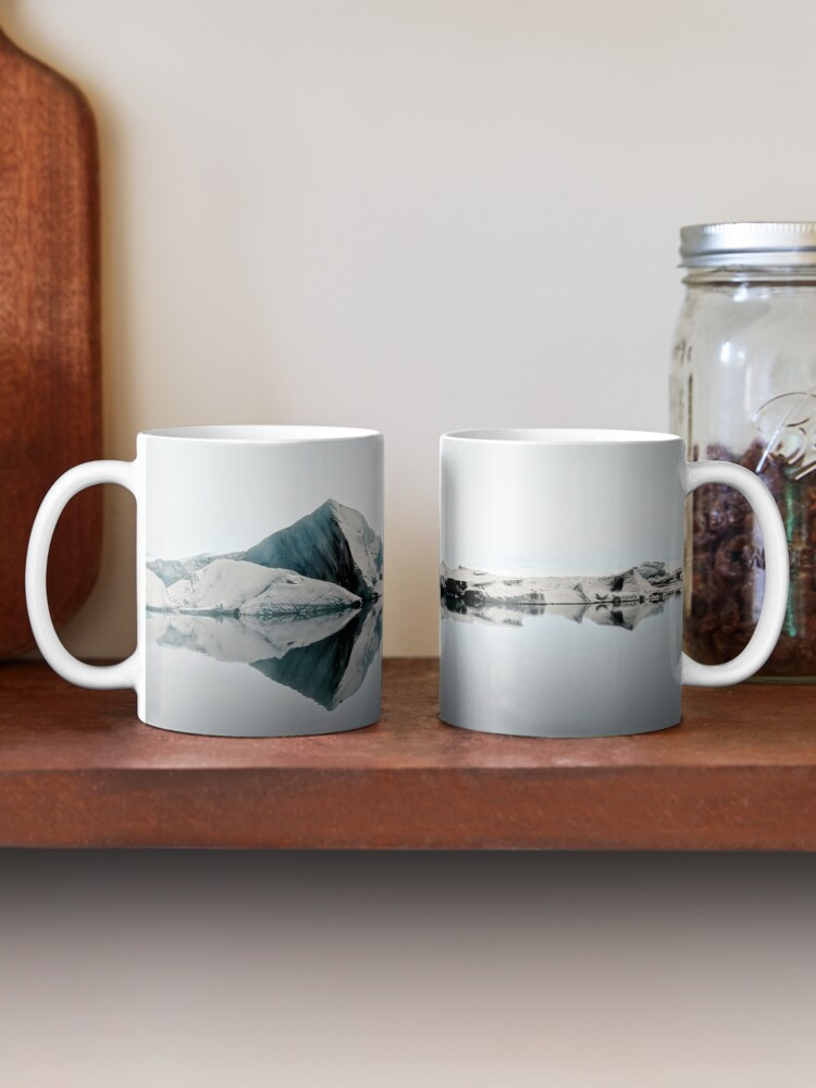 Alternate view of Frozen Symmetry, Glacier Lagoon Mug