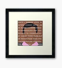 Tom Haverford Slang Framed Print